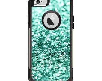 The Glimmer Green Apple iPhone 6 Otterbox Commuter Case Skin Set