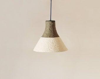 Paper mache lamp pluto lamp hanging lamp pendant lamp for Make paper mache lamp shade