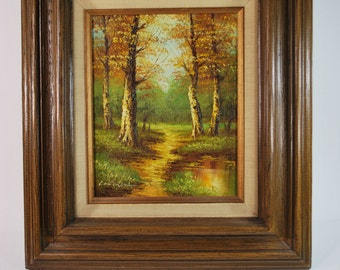 SALE! Vintage Cantrell Landscape Oil Painting on Canvas