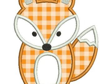 FOX Applique Design - Instant Download Digital File - Machine Embroidery