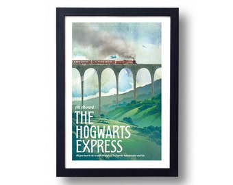 Harry Potter Poster Hogwarts Express Travel Poster, Harry Potter Art, Harry Potter Diagon Alley, Harry Potter Wall Art