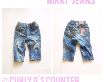 The Nikki Jeans - Baby pants baby jeans - baby girl jeans - toddler girl jeans - baby girl skinny jeans - girl skinny jeans