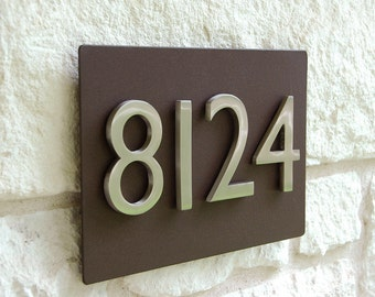 """ONE 4"""" Silver Aluminum Magnetic Address Number (Free Shipping)"""