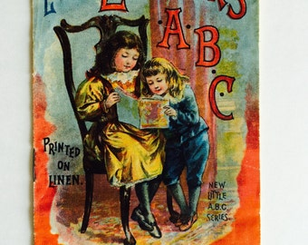 Little Learner's ABC Book, 1899, Linen Illustrated Book