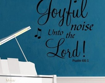 Make a Joyful Noise Wall Lettering Stencil WW283