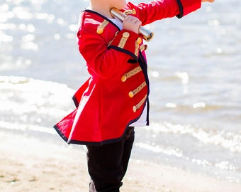 Boys Pirate coat and hat, velvet pirate coat,  pirate costume,  Halloween Pirate, made to order