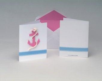 Preppy Pink Anchor