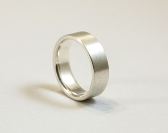 6mm 14kt Brushed Band