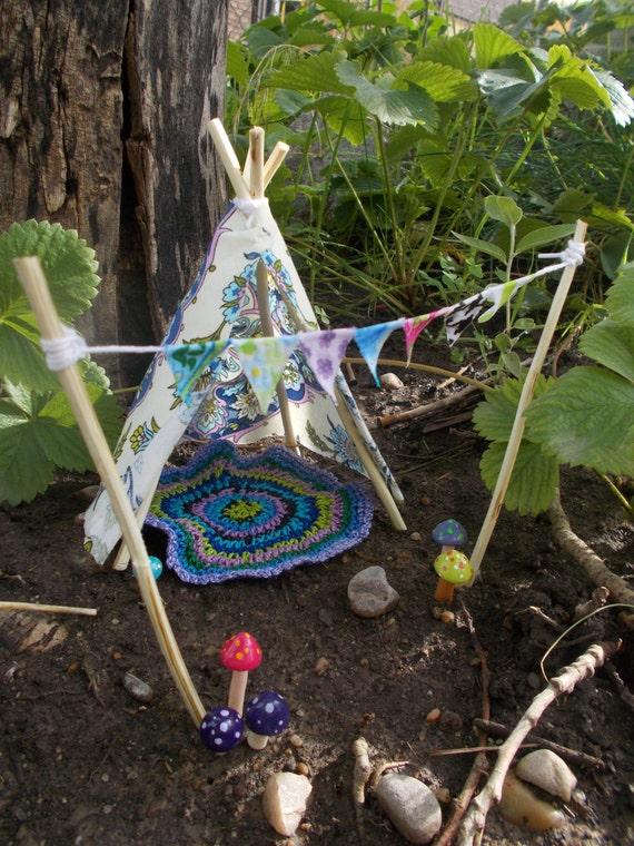 Fairy Garden Bohemian Teepee Fairy House Doll House Miniature