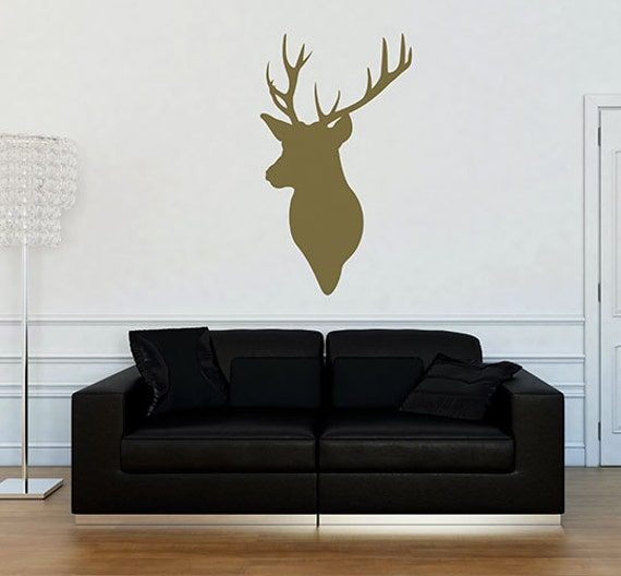 Items Similar To Stag Head Wall Art Home Decals