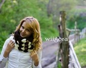 Luxury Knit Braided Scarf, Woven Cowl