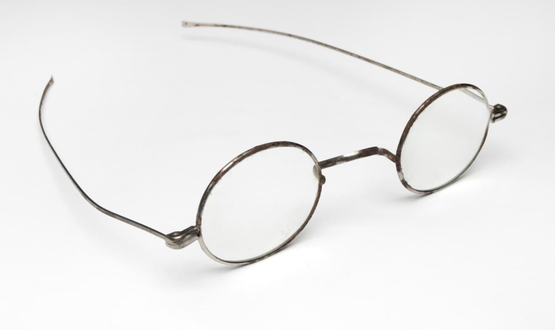 Glasses Frames Wide Bridge : Antique Eye Glasses Civil War Vintage Steel Eyeglasses