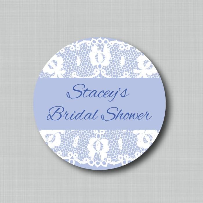 Custom Bridal Shower Favor Stickers Personalized Wedding