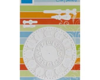 "Marianne Designs Craftables Dies CR1234 ~ Clock Works 2 clock faces ~ 2"" & 3.75"" Faces ~"
