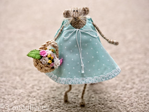 Mouse doll knitted rat mouse gift for her home decoration like this item negle Image collections