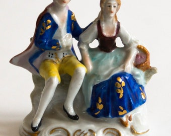 Dresden Victorian Couple Figurine in Mint Condition