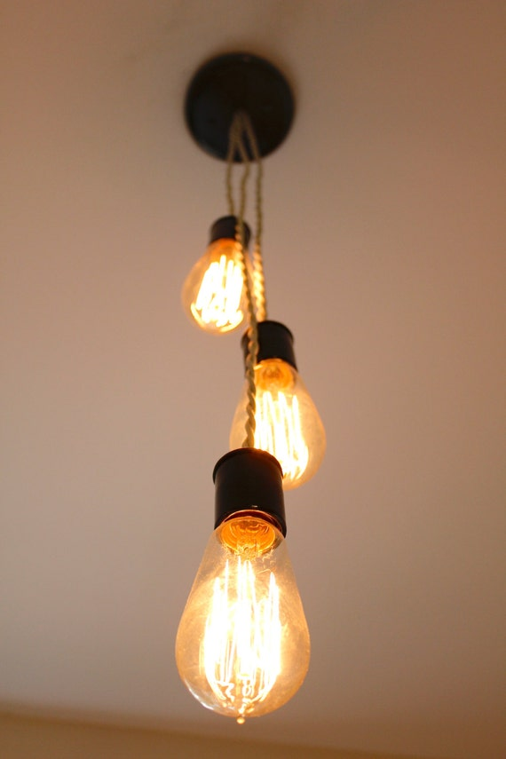 triple edison bulb light fixture with twisted by 7mwoodworking. Black Bedroom Furniture Sets. Home Design Ideas