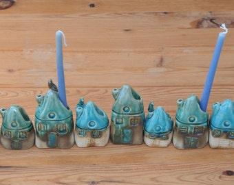 Hanukkah Menorah, Judaica, Hanukkah gift, Hanukkah Decoration, Jewish Candle holder, Jewish Menorah, Ceramics Menorah, Handmade Menorah