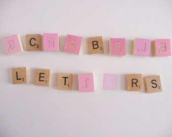 Scrabble letters (pick them) hand carved rubber stamp, unmounted