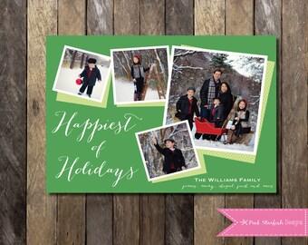 PRINTABLE Photo Christmas Card, Holiday Card: Holiday Christmas Card PRINTABLE 4x6 or 5x7