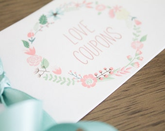 Sweet Printable Love Coupon Book Coupons for Anniversary Gift for Him Groom Boyfriend Husband