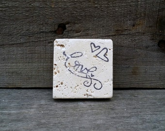 Rustic Wedding Love Magnet Favor,Wedding Favors, Save the Date Magnet, Stone Tile Magnets, Personalized Wedding Favor, Set of 5