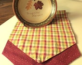 Reversable Fall Plaid Table Runner