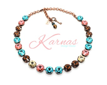 PRISMATIC 12mm Crystal Rivoli Choker Made With Swarovski Elements *Pick Your Finish *Karnas Design Studio *Free Shipping*