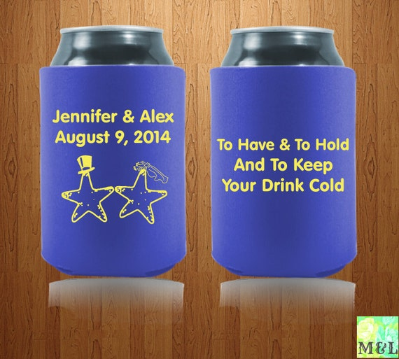 Personalized Wedding Favor Koozies To Have And To By MintandLemon