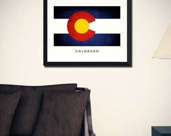 Colorado Flag Art Print