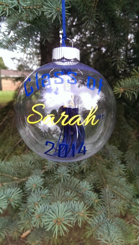 Personalized graduation tassel ornament for Custom engraved christmas ornaments