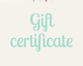 Gift Certificate 27.72 US dollars (20 Euro)