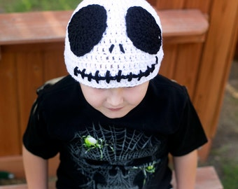 Crochet Beanie Hats/Skeleton Christmas/Boy Beanies/Handmade/ Halloween Beanie/ Skeleton Crochet Beanie/Scary Beanie/Halloween Beanie for boy