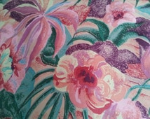 """Fabric - HomeDecor Floral   Material- Drapes - Duvets - Bags - Pillows - Tablecovers- 2Yds x 54"""" - NEW!!!"""