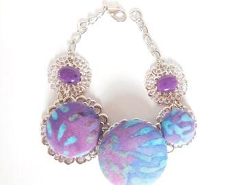 Bracelet in  stone and filigree