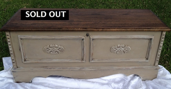 Vintage Cedar Chest Trunk Hope Chest Coffee By Theopenedcocoon