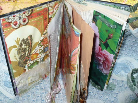 Mixed Media Art Scrapbook and Journal - Pockets For Filing