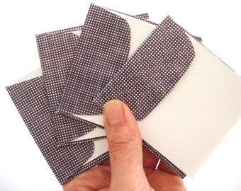 Card Set: Stationery Set hand cut polka dot envelopes with matching blank cards