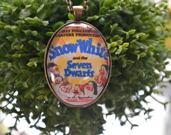 Vintage Disney Movie Poster Pendant--Snow White