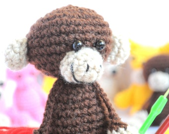 Pattern, Amigurumi Pattern, Amigurumi Monkey Pattern, Crocheted Monkey Pattern, Tutorial