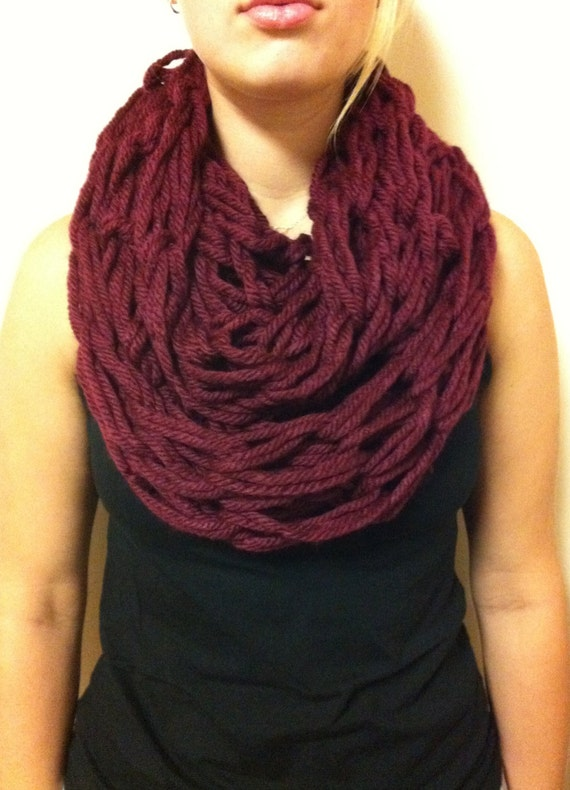 Knitting With Arms Scarf : Arm knit heavy infinity scarf by nurseswithneedles on etsy