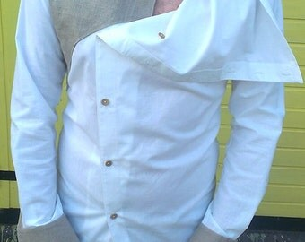 Men Shirt Pure Cotton and Raw Canvas