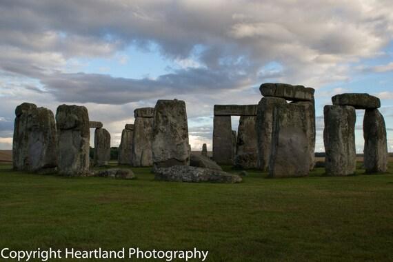 Stonehenge Photography - Cloud Photography - Travel Photography - Sunset - Landscape Photography - Stonehenge Print - Britain Photography