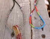 Sabre-Tooth Fancy Jasper & Garnet Necklace