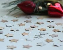 Die Cut stars, wood craft stars, confettis, Star shape confetti, Small stars, Star theme party, Birch bark decor, Wedding decor, Birthday