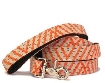 Orange Dog Leash  - Dog Lead - Colorful Custom Leash - 4ft and 5ft Lengths