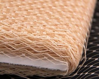 9 inch Champagne Beige Russian / French Veiling fabric for birdcage wedding veils, hats & fascinators (1 Yard)