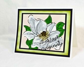 Original Art Blank NoteCards, Note Cards, Magnolia Bloom