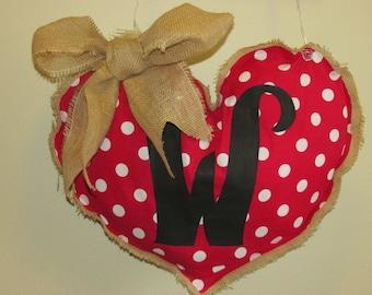 Valentine's Burlap Door Hanger