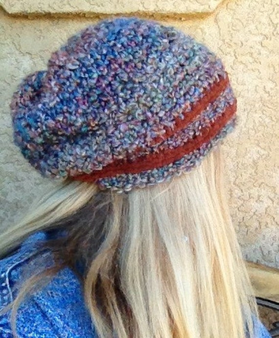 Thick and Quick Slouchy Hat - a loom knit pattern